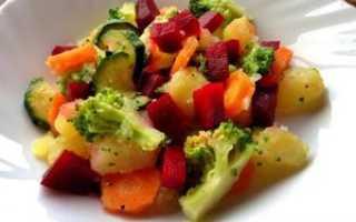 Салаты из отварных овощей рецепты