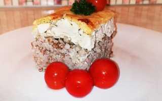 Запеканка из гречки с курицей в духовке