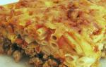 Рецепт макаронной запеканки