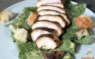 Салаты с мясом и овощами
