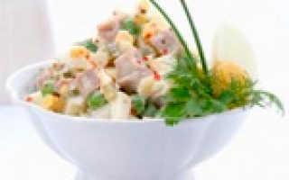 Салаты с отварным мясом рецепты