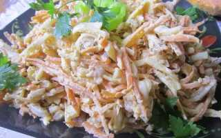Салат из кальмаров и корейской моркови рецепт