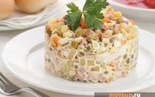 Салат столичный классический рецепт с мясом свинины