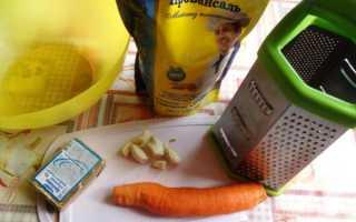 Салат с морковью и плавленным сыром