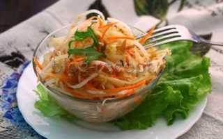 Салат из дайкона рецепты с морковью