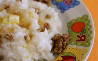 Вкусная рисовая каша на молоке