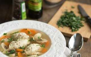 Суп с кнелями из курицы