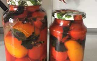 Рецепт консервации сладких помидор на зиму