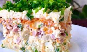 Салат с грибной икрой