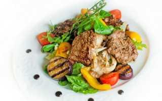 Салат мясо огурец перец болгарский