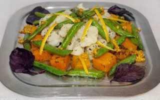 Салат из фасоли стручковой замороженной