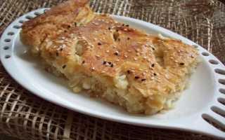 Пирог с капустой и яйцом слоеное тесто