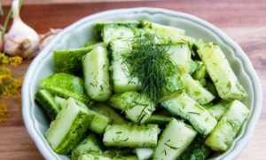 Салат из огурцов на зиму дамские пальчики