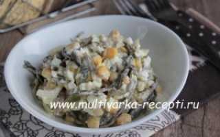 Салат морская капуста яйцо кукуруза
