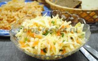 Салат из капусты моркови и лука