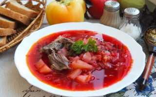 Рецепт борща из говядины