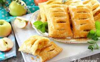 Как быстро приготовить пирог из слоеного теста с яблоками