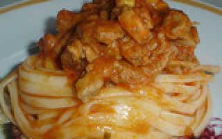 Рецепт макарон без мяса