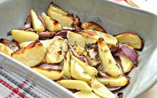 Картофель в духовке постный рецепт