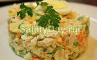 Салат оливье рецепт с мясом говядины