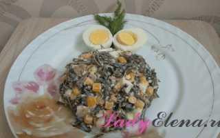 Рецепт салата с морской капустой и яйцом