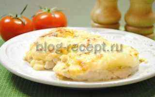 Курица с ананасами и сметаной в духовке