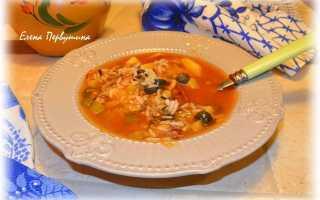 Солянка с рисом рецепт