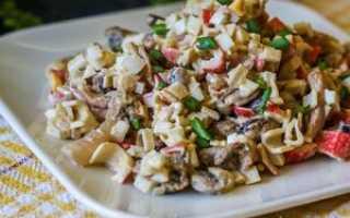 Салат из морепродуктов простой и вкусный
