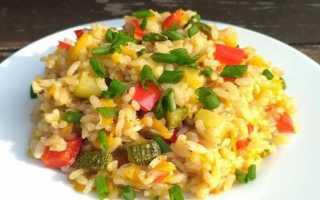 Рецепты риса с овощами на сковороде
