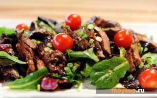 Горячие салаты из овощей