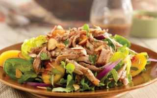 Вкусный салат с копченым мясом