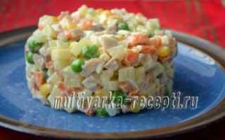 Салат из мяса кролика