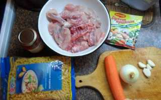 Тушеные макароны с курицей