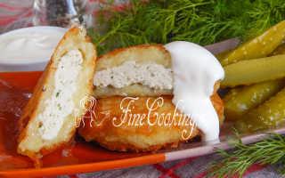 Драники картофельные с куриной грудкой