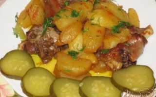 Рагу из утки с картофелем
