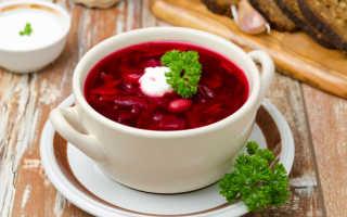 Рецепт украинского борща с фасолью
