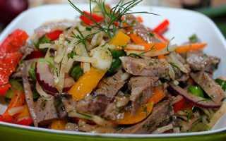 Салат со свиного языка