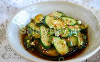 Салат с мясом и огурцами по корейски