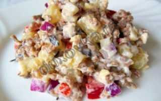 Салат с фаршем мясным рецепт