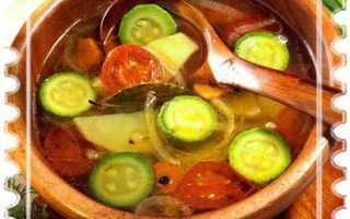 Суп юшка с кабачками