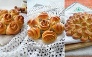 Красивые формы булочек из дрожжевого теста с сахаром
