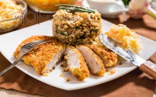 Курица в яйце и панировочных сухарях