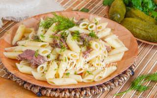 Макароны с тушенкой рецепт на сковороде