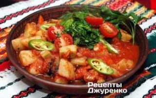 Ингредиенты для овощного рагу