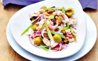 Салат с маринованными морепродуктами рецепт