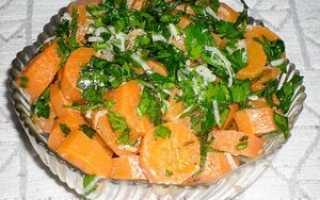Салат с морковью и луком