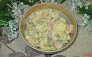 Салат оливье с каперсами