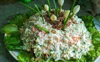 Салат с печенью и морковью и луком