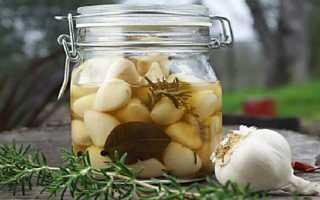 Рецепт маринованного чеснока зубчиками на зиму
