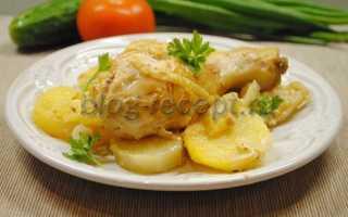 Голень куриная в духовке с картошкой рецепт